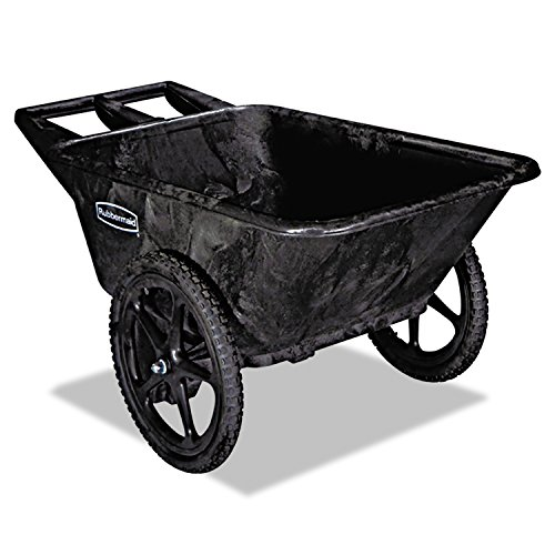 Rubbermaid Commercial Products FG564200BLA Plastic Yard Cart, 7.5 cu. feet