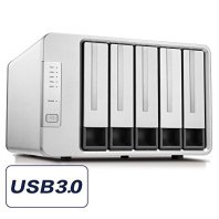 TerraMaster D5-300C USB3.0(5Gbps) Type C 5-Bay RAID Enclosure Support RAID 0/1/Single Exclusive 2+3 RAID Mode Hard Drive RAID Storage (Diskless)