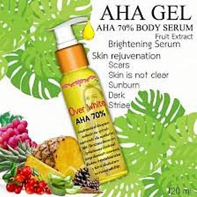 Over White AHA Serum Dark Skin Body Serum AHA Vitamin