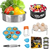 Mini 3 Quart Accessories for Instant Pot 3 QT or 4 Qt Instapot, including Steamer Basket, Egg Trivet Rack, Cheesecake Pan, Bonus Recipe E-Book