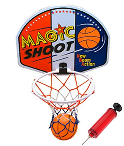 16' Magic Shot Mini Basketball Hoop Set with Ball and Pump