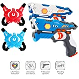 ComTec Laser Tag for Kids, Laser Tag Sets with Gun and Vest, Laser Guns Toys Gift for Boys Girls Game Party Multiplayers Indoor Outdoor- Infrared 0.9mW(2 Pack) (Large)