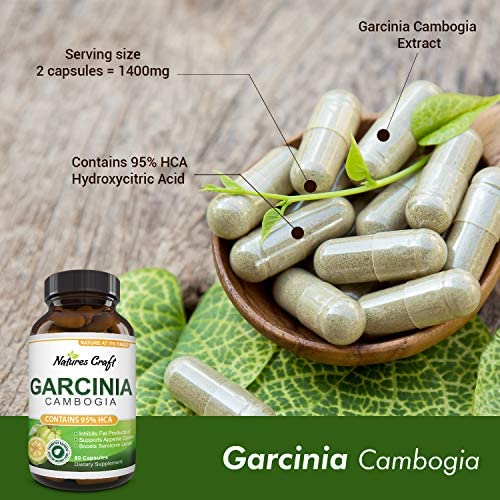 Garcinia Cambogia with 95% HCA Weight Loss Supplement - Best Fast Acting Fat Burner and Natural Carb Blocker Diet Pills - Pure Garcinia Extract Appetite Suppressant for Men & Women 8