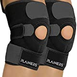 Plainers 2 Pack Knee Brace Support & Patella Stabilizer for Men & Women - Relieves ACL LCL MCL & Arthritis Pain. Perfect for Running Hiking Soccer Basketball Tennis & Squats. with Adjustable Straps
