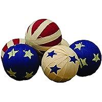 "CWI Gifts 2.5"" Americana Rag Balls 6 Set, 6 Piece"