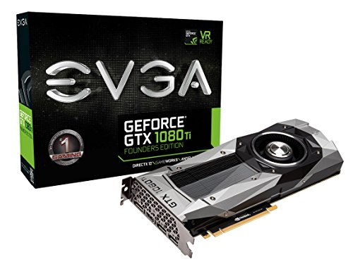EVGA GeForce GTX 1080 Ti FOUNDERS EDITION GAMING 11GB GDDR5X LED DX12 OSD Support (PXOC) Graphic Cards 11G-P4-6390-KR