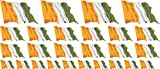 Mini Sticker Pack waving - 4x 51x31mm+ 12x 33x20mm + 10x 20x12mm- Self-Stick - Ivory Coast - Self-Adhesive - Flag Decals - for Car, Office and Home - Set of 26
