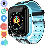 Kids Smart Watch Phone for Boys Girls – Waterproof Smartwatch Phone Touchscreen with Camera Call Voice Chat SOS Flashlight Anti Lost Alarm Clock Game Wrist Watch for Children Birthday