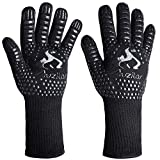 Auzilar BBQ Grill Gloves, 1472°F Extreme Heat Resistant Cooking Gloves, Oven Mitts, Barbecue Gloves for Smoker, Extra Long Sleeve Heat Resistant Gloves for Cooking, Grilling, Baking
