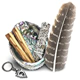 JL Local Smudge Kit - Sage, Palo Santo, Abalone Shell, Feather & More! Healing, Purifying, Meditating & Incense.