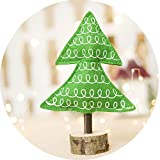 Polk Dot Christmas Wooden Decorations Striped Printed Christmas Tree Kids Toy Christmas Tree,10