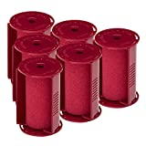 Caruso Professional Large Molecular Replacement Steam Hair Rollers with Shields, 6-Pack, 1 ½ Inches