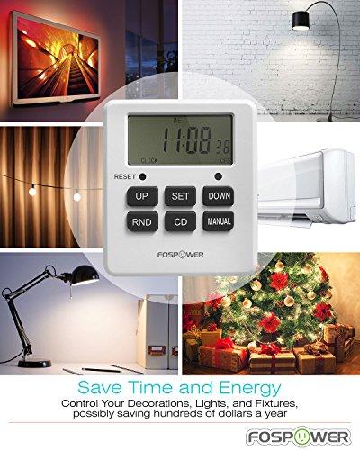 Digital outlet timer fospower etl listed digital lcd dual outlet digital aloadofball Images