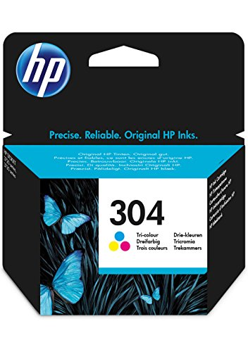 51I45KPiiaL - HP N9K05AE 304 Original Ink Cartridge, Tri-color, Pack of 1