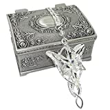 Ruimeng Lord of the Rings Arwen's Evenstar Pendant Necklace with Jewelry Box,Lord of the Rings Necklace,Great Gift for The Lord of the Rings Fans Clistmas Gifts