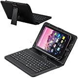 Navitech Black Micro USB Keyboard Case/Cover Compatible with The yuntab 10.1' Windows PAD (EM-I8811-T2)