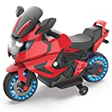 HOVERHEART Kids Electric Power Motorcycle 6V Ride On Bike (Red)
