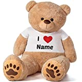 Giant Teddy Brand 6 Foot Premium Quality Super Soft Life Size 6 Personalized Teddy Bear Package