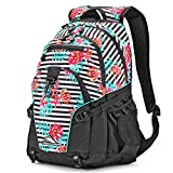 High Sierra Loop Backpack, Tropical Stripe/Black/Aquamarine
