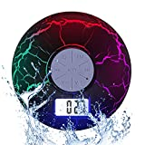 Wireless Waterproof Portable Blueooth Speaker - KGbee IPX7 2nd Blue Tooth Speakers - FM Radio, Cool LED Backlight, Suction Cup - Loud USB-Rechargeable Shower Speaker with Mic - Great Gift