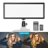 Neewer Super Slim Bi-Color Dimmable LED Video Light with LCD Display, 2600mAh Li-ion Battery and Charger - Ultra High…