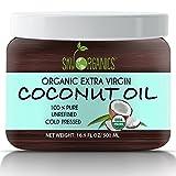 Organic Extra Virgin Coconut Oil by Sky Organics 16.9 oz-...