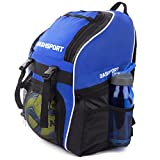 Soccer Backpack - Basketball Backpack - Youth Kids Ages 6 and Up - with Ball Compartment - All...