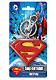DC Colored Superman Logo Pewter Key Ring