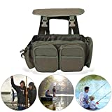 AYNEFY Multifunctional Fishing Tackle Backpack Wild River Waterproof Storage Bags Multi-Tackle Double Shoulder Fishing Seat Box Backpack Converter Roving Fishing Stalking Carrier Bag