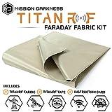 TitanRF Faraday Fabric // EMI & RFID Shielding/Cell, WiFi & Bluetooth Blocking/Military Grade Shielding Fabric (44'W x 36' L / 11sq ft / 1.22 sq yds) + Free 12' L Conductive Adhesive Tape