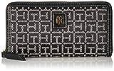 Tommy Hilfiger Julia Large Jacquard Zip Wallet, Black/White