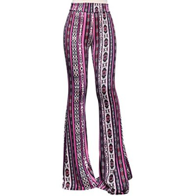 High waist wide leg long palazzo bell bottom yoga pants