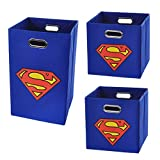 Superman Logo Storage and Laundry Bundle Pack, Blue