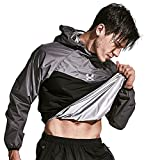 HOTSUIT Sauna Suit Men Weight Loss Sweat Exercise Gym Suit Workout Fitness (Gray, XX-Large)