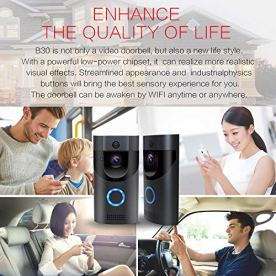 WIFI-Video-Doorbell-SOOCOO-Smart-Doorbell-720P-HD-Wifi-Security-Camera-Real-Time-Video-Two-Way-Audio-16G-Card-and-2-Batteries-IP65-Waterproof-PIR-Motion-Detection-Night-Vision-APP-Monitor-Gray