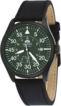 Orient 21-Jewel Automatic Aviator Flight Watch with Black Leather Strap ER2A002F