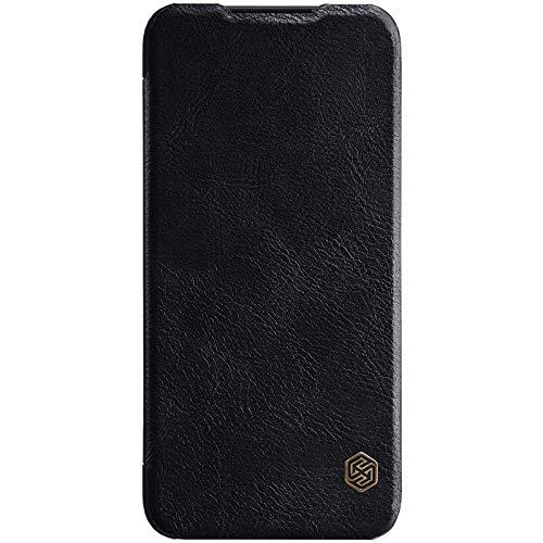 Nillkin Case for Xiaomi Redmi Note 7 Qin Genuine Classic Leather Flip Folio PC with Card Slot Black Color 6
