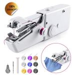 Portable Handheld Sewing Machine Mini Sewing Machine for Kids Beginners Home Travel Sewing Cordless Small Handy Stitch Sewing Machine Easy Quick Repairs Fabric Leather Denim Canvas