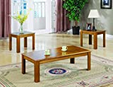 Product review for Coaster 3-Piece Occasional Table Set, Oak