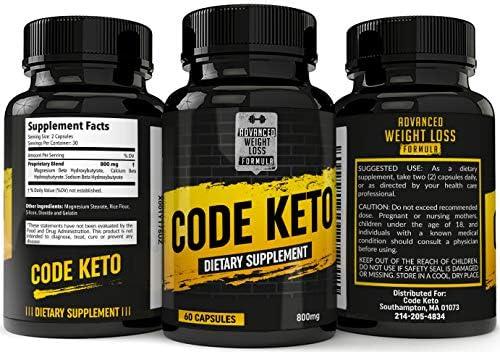 Keto Diet Pills - Best Ketosis Supplement for Women and Men - Code Keto - 60 Capsules 10
