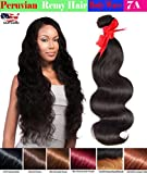 eCowboy 6A Peruvian Human Hair Body Wave Hair Bundle On Sale Best Quality Hair Extensions Weft 100 Human Hair Weave GUARANTEED Dark Brown #2 color - 16 Inch