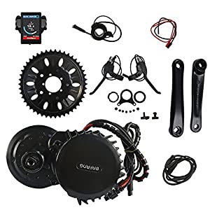 8fun Bafang BBS03/BBSHD Lastest Model 48V 1000W Ebike Electric Bicycle Motor Mid Drive Electric Bike Conversion Kit (68MM-850C)