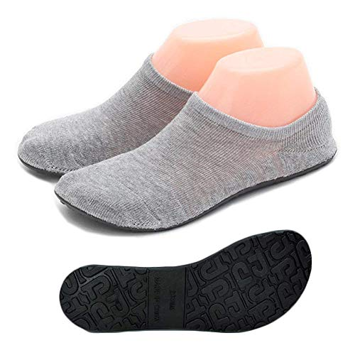 Womens Cozy Fuzzy Slipper Socks Winter Warm Soft Home Casual Knitted Sock Shoes Non-Slip Thicken Sole Floor Shoes Xmas Gift (M (Shoes Size 6.5-7.5), Thin Grey)
