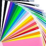 Bright Idea Supplies Heat Transfer Vinyl Bundle - 23 Sheet Pack of HTV...