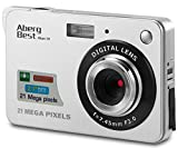 "AbergBest 21 Mega Pixels 2.7"" LCD Rechargeable HD Digital Camera Video Camera Digital Students Cameras,Indoor Outdoor for Adult/Seniors/Kid (Silver)"