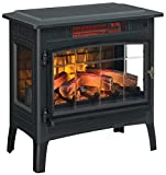 Duraflame Electric Infrared Quartz Fireplace Stove with 3D Flame Effect, Black,