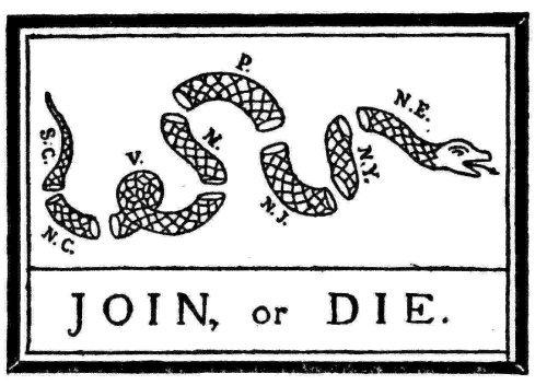 Image result for Join or Die