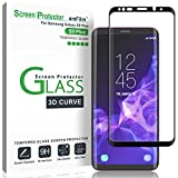 Galaxy S9 Plus Screen Protector Glass, amFilm 3D Curved Dot Matrix Full Screen Samsung Galaxy S9 PLUS Tempered Glass Screen Protector (6.2