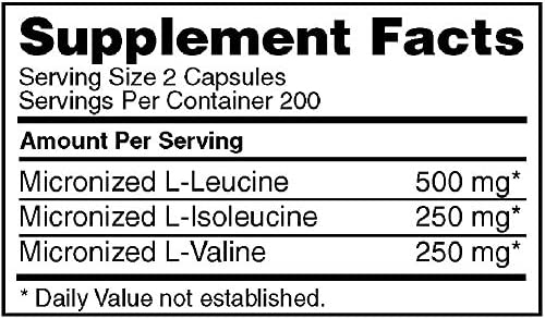 Optimum Nutrition Instantized BCAA Capsules, Keto Friendly Branched Chain Essential Amino Acids, 1000mg, 400 Count 10
