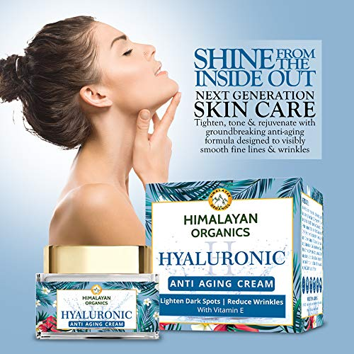 51IVFHStX8L - Himalayan Organics Hyaluronic Acid Anti Aging Cream for Under Eye Dark Circles, Anti Wrinkle, Skin Brightening, 50 ml